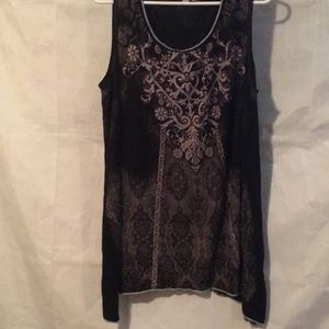 Other - Black Nightgown with Sparkles Size 3X